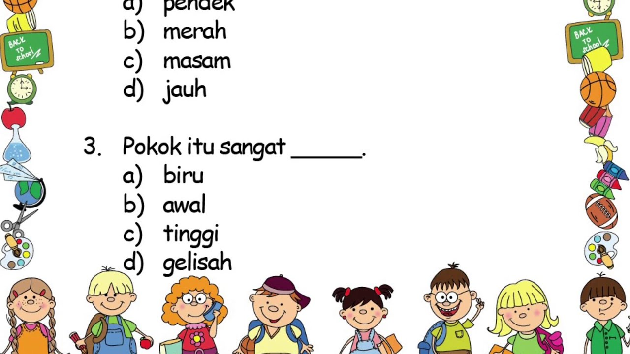 Kata Adjektif Bahasa Malaysia Tahun 2 Youtube
