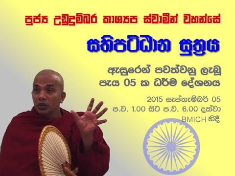 Ven  Ududumbara Kashyapa thero - 05 Hour Sermon on Sathipattana Suthra 05-SEP-15 @ BMICH