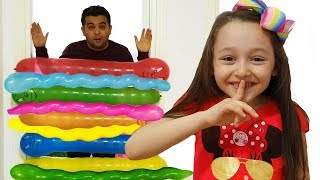 Öykü play with Funny Ballons - Fun Kids Video
