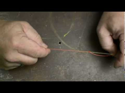 How to tie the 'Spider Hitched Shock Leader Knot'