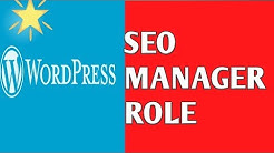 word press user role SEO manager