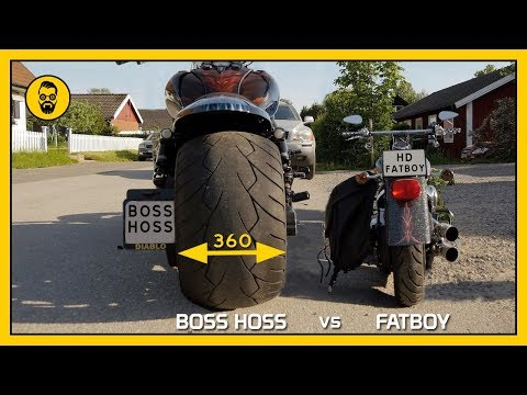 Boss Hoss gets Harley Davidson Fatboy to look like a moped