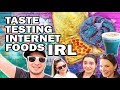 🍕Eating Internet Foods ft. SimplyNailogical and SafiyaNygaard
