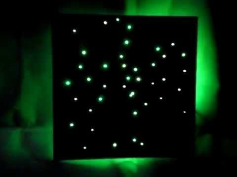 PANNELLO CIELO STELLATO MODULARE LED LIGHT GFELETTRONICA - YouTube