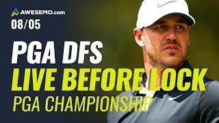 PGA DFS Live Before Lock - 2020 PGA Championship Picks, Prediction, Betting