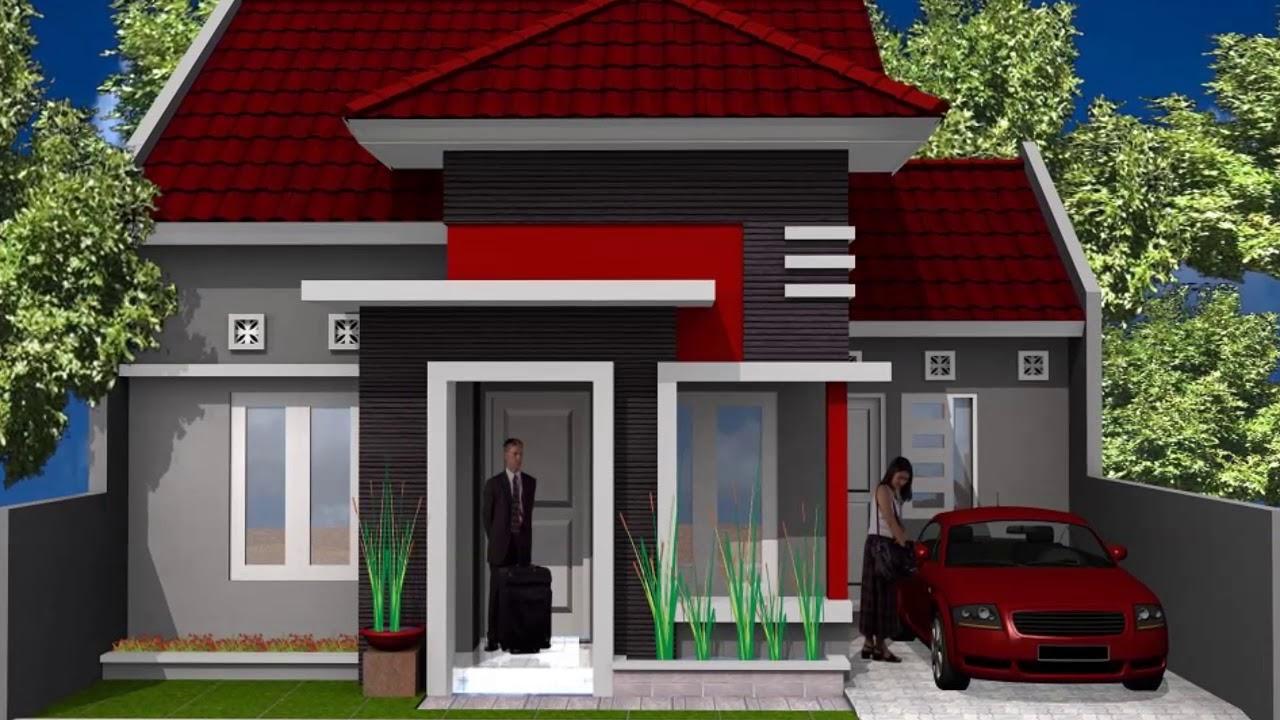 desain rumah minimalis warna merah youtube