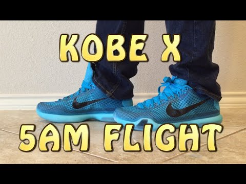 detailed pictures f79ac 27d28 Kobe X 10 - 5AM Flight Review with ON FEET