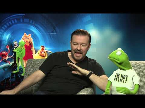 Ricky Gervais & Constantine The Frog Talk Muppets Most Wanted