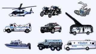 Полицейские Машинки и спецтехника. Police Cars and special Vehicles for kids. Видео для детей