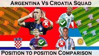 argentina vs croatia squad comparison position to position comparisonworld cup 2018
