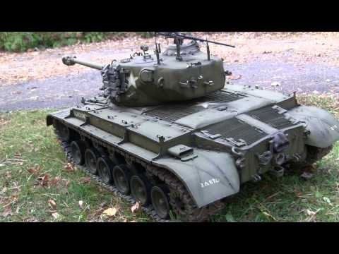 1/6th scale M26 (T26E3) Pershing Model Showcase video Part 1 of 2