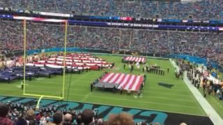 carolina panthers vs kansas city chiefs national anthem f 16 flyover 11 13 16
