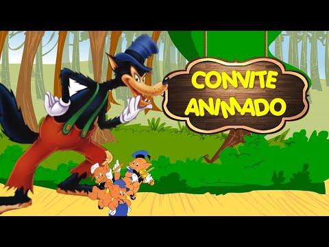 CONVITE ANIMADO VIRTUAL LOBO MAU 🐺