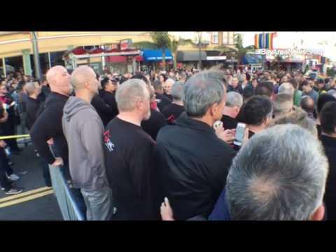 VIDEO: Memorial in #SanFrancisco's #Castro during vigil for #Orlando #shooting victims. @mercnews @e