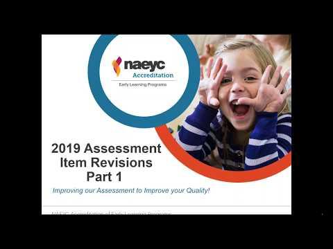 Webinar: 2019 Revision Of Early Learning Program Assessment Item (Part 1)