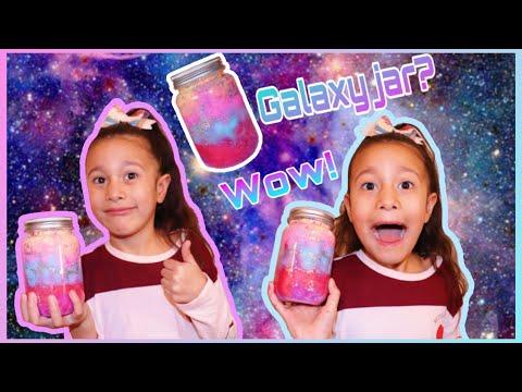 DIY KIDS CRAFT FUN GALAXY JAR | EASY FUN FOR KIDS