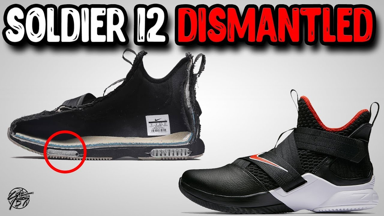 6ddb8715087 Nike Lebron Soldier 12 Dismantled! - YouTube