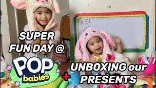 Pop Babies Taping with Ate Mela + Unboxing Our Presents | Mela and Stela VLOG