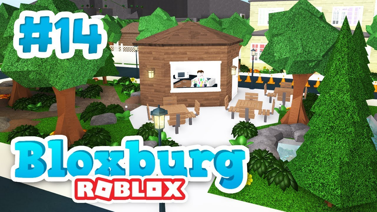 Building A Park Cafe Roblox Welcome To Bloxburg 14 Youtube