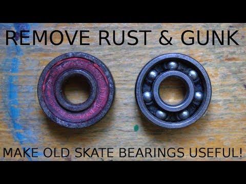 Reviving A Stuck & Rusted Skateboard Bearin - Complete Teardown & Rebuild