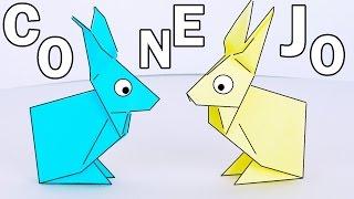Cómo hacer un CONEJITO Sencillo de Papel - Origami - Papiroflexia!