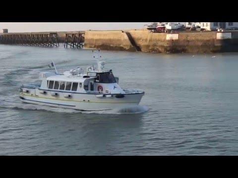 2016 mars Le Treport retour du bateau promenade l' Eden