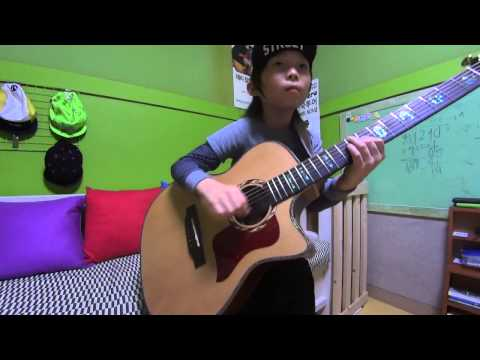 Classical Gas - Mason Williams (fingerstyle Guitar Cover 7year-old Kid Sean Song)