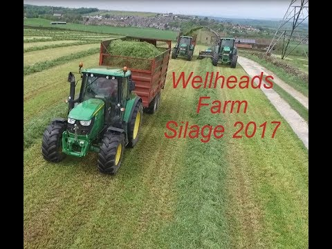 Wellheads Farm Silage 2017 trailed forager (Drone Footage)