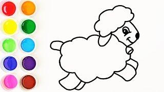 Cómo Dibujar una Oveja de Arco Iris - Colores Para Niños - Learn Colors / FunKeep