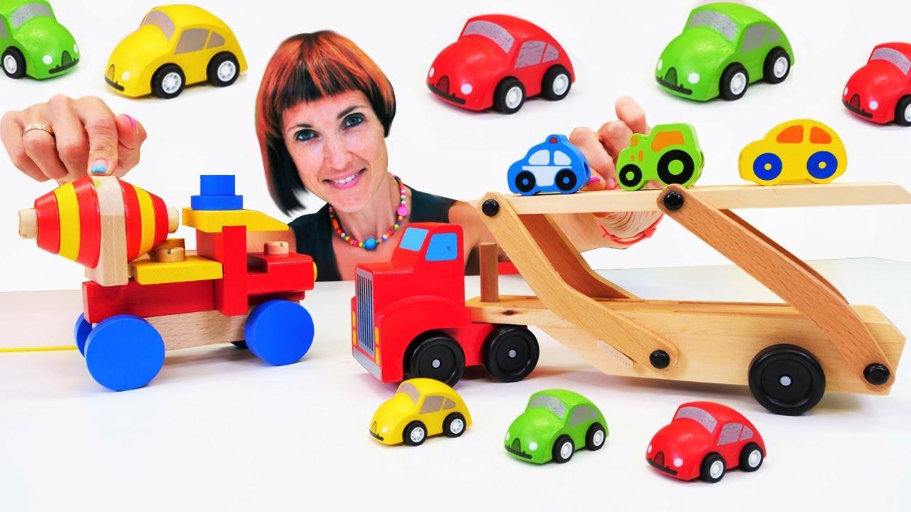 ПРО МАШИНКИ видео для детей. Автовоз, бетономешалка и Маша Капуки. Игры в машинки