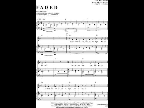 Noten bei notendownload - Faded (Alan Walker)