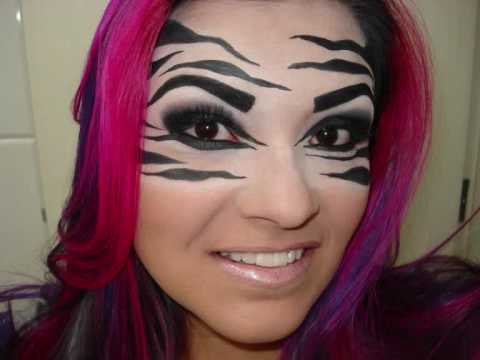 Zebra Make Up Look Youtube