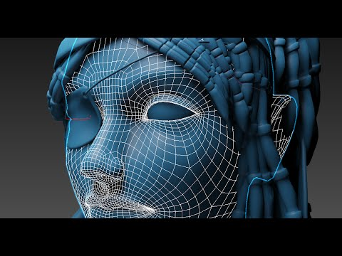 3DsMax Head modeling pirate woman (Long version)