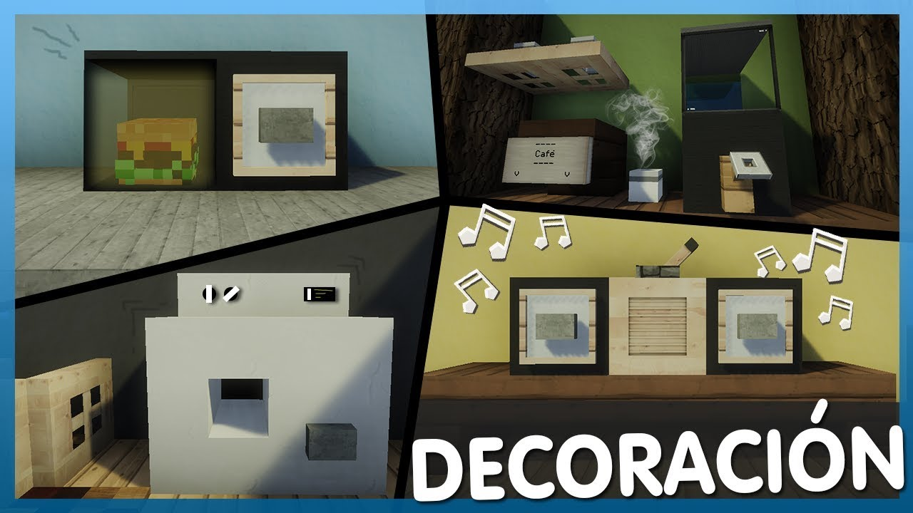 Minecraft decoraciones f ciles para tu casa tutorial for Decoraciones para casas