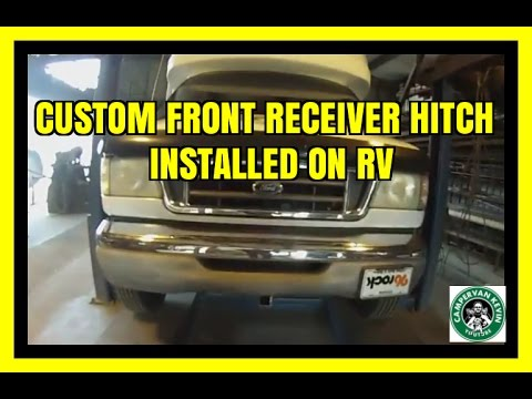 Custom Front Receiver Hitch Installed On RV
