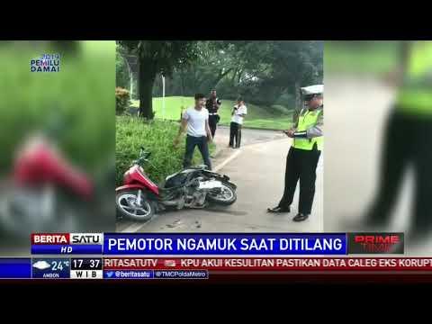 Remaja Ngamuk dan Hancurkan Motor karena Ditilang