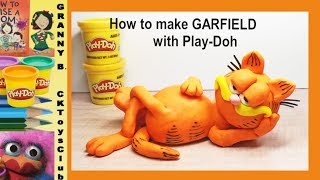 How to make GARFIELD with Play-Doh. by Granny B. CKToysClub