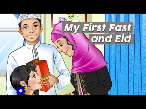 My First Fast and Eid (Islamic Festival) / Story For Kids About Ramadan (kids podcast)