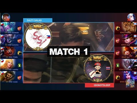 Grand Final SALTY SALAD VS IDONOTSLEEP Match 1 - MSC Five Nations Final