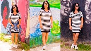 Modelagem e Costura: Vestido Listrado