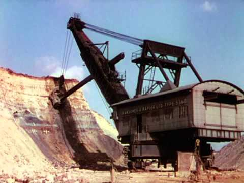 Mechanical Excavators with Teeth Of Steel - 1942 - CharlieDeanArchives / Archival Footage