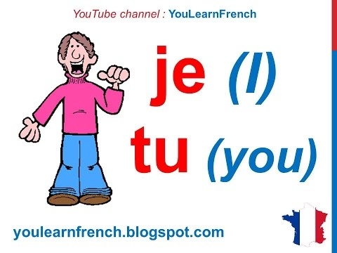 French Lesson 12 - Subject pronouns in French Pronoms personnels sujet Pronombres personales francés