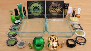 Green vs Gold - Mixing Makeup Eyeshadow Into Slime Special Series 203 Satisfying Slime Video