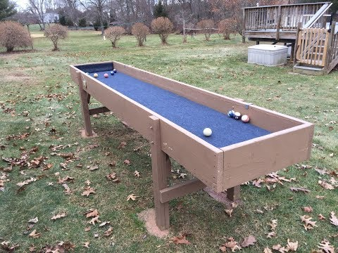 How to build a Carpetball Table
