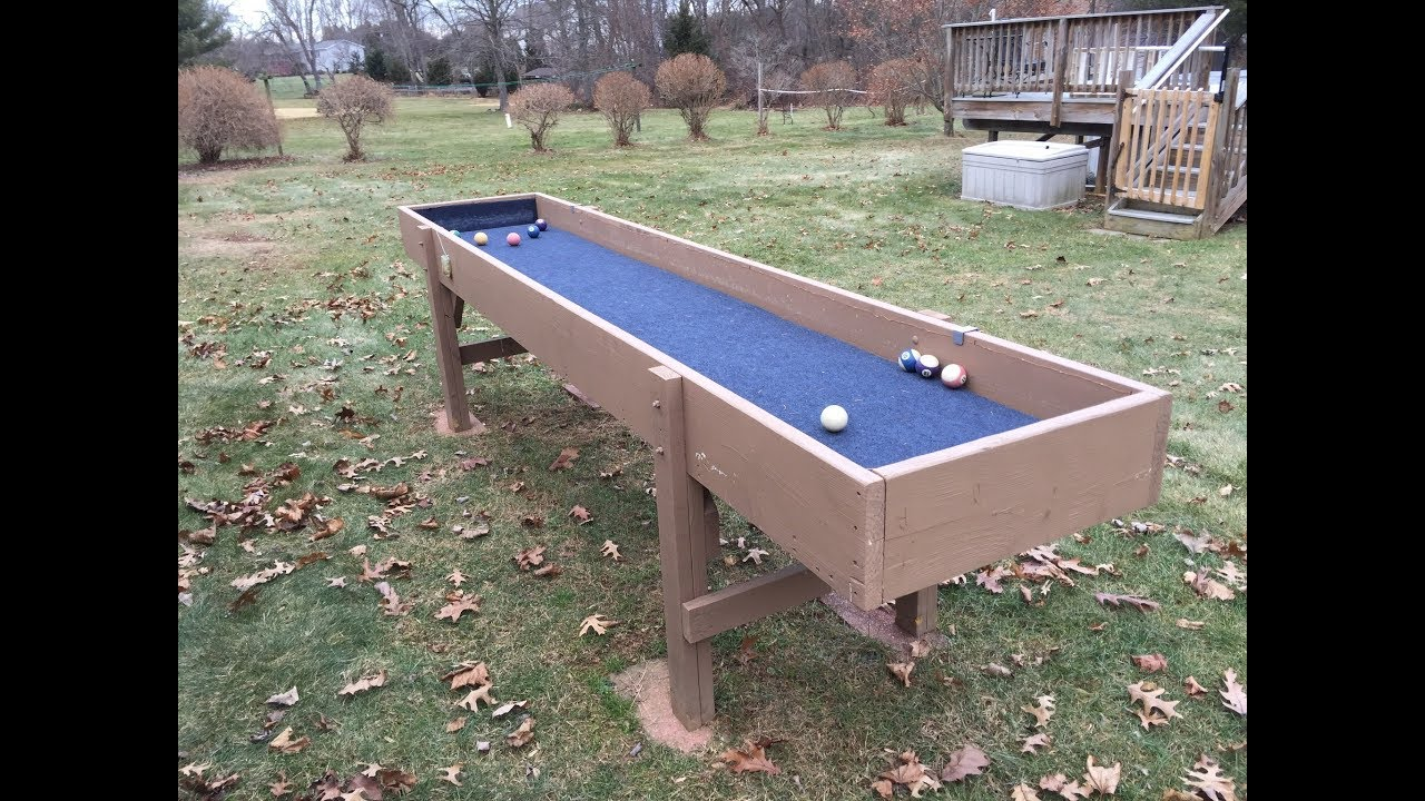 How To Build A Carpetball Table Youtube
