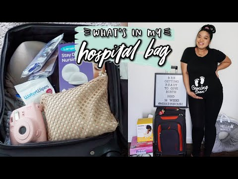 FIRST TIME MOM HOSPITAL BAG FOR LABOR AND DELIVERY   39 WEEKS PREGNANT