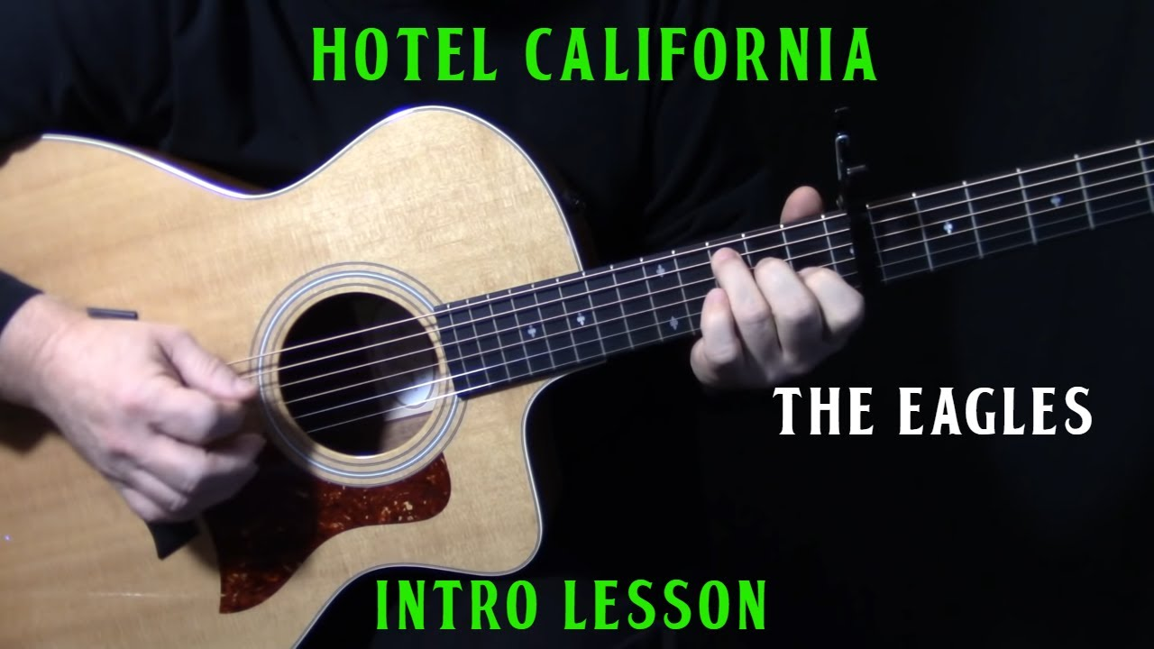 how to play california dreamin intro on guitar