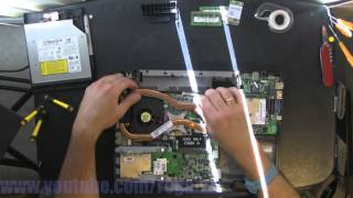 DELL VOSTRO 1500 take apart, disassemble, how to open video disassembly
