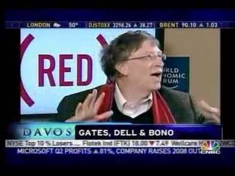 (RED): Bono, Gates and Dell at Davos