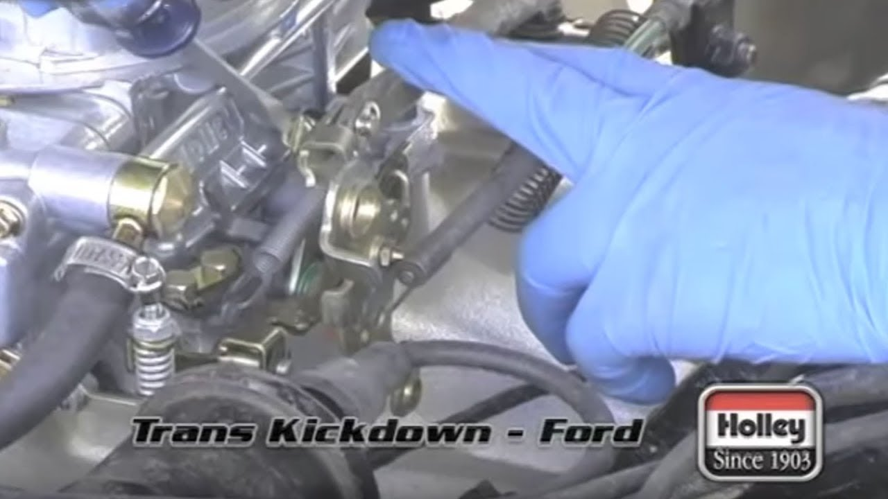 hight resolution of setting the ford transmission kickdown when using a holley carburetor